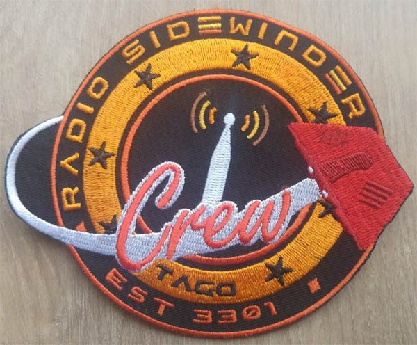 Radio Sidewinder sew on patch