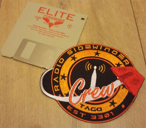 RSC patch and Elite 3.5 floppy disk for size comparison