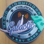 Radio Sidewinder Galactic sew on patch