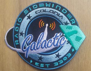 Radio Sidewinder Galactic sew on patch